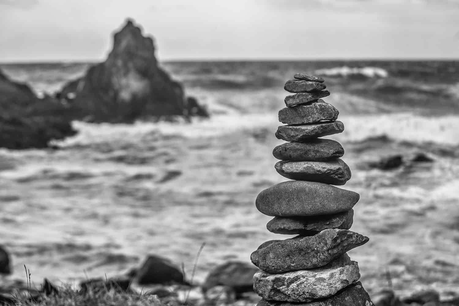 Stacked Stone on the Coast